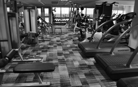 The new workout room after summer renovations