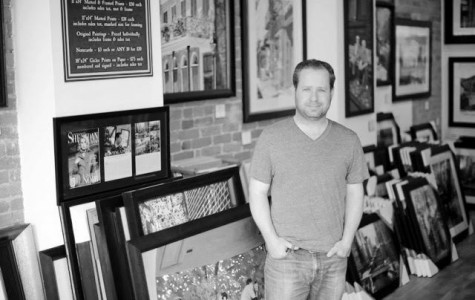 Josh Moulton is the artist and owner of Josh Moulton Fine Art Gallery on Clark Street. Photo courtesy of Josh Moulton.