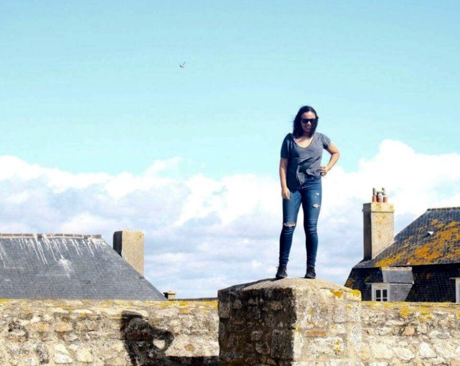 Hunt enjoys her time at an old military port in Brittany, France.