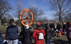 While students spent time at the pictured rally, others watched a CNN town hall on gun policy in America.