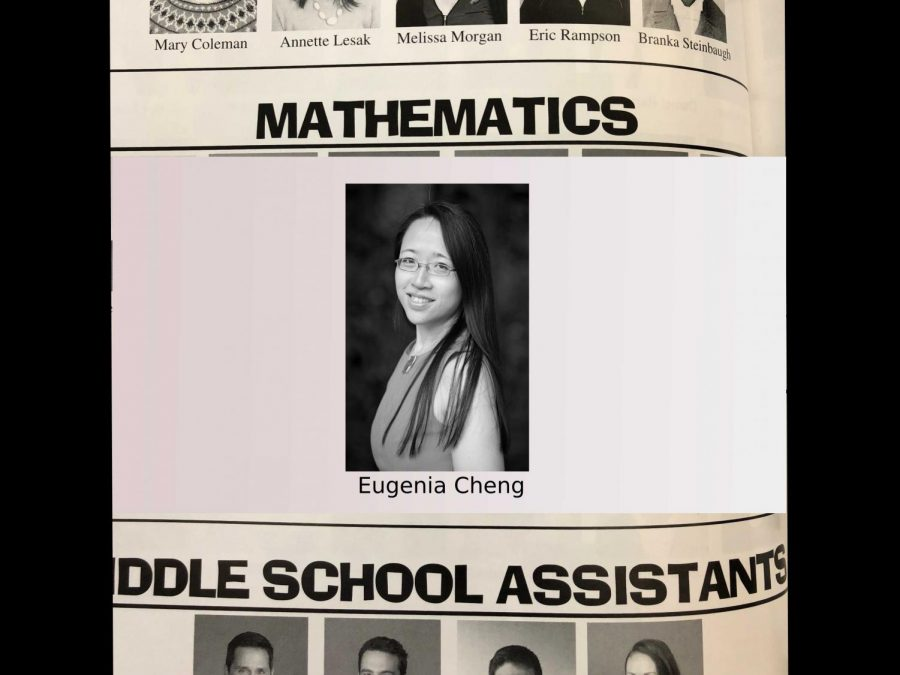 Eugenia+Cheng+is+the+only+teacher+in+the+Math+Department%2C+as+evidenced+by+the+yearbook.+