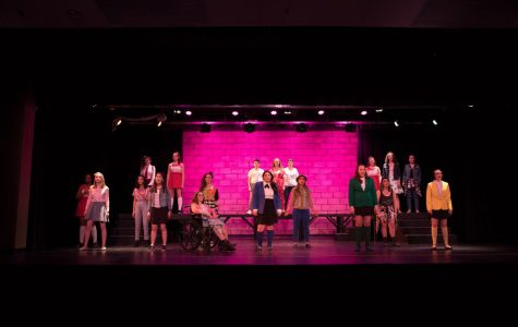 The Cast of Heathers lines up for a show-stopping number.