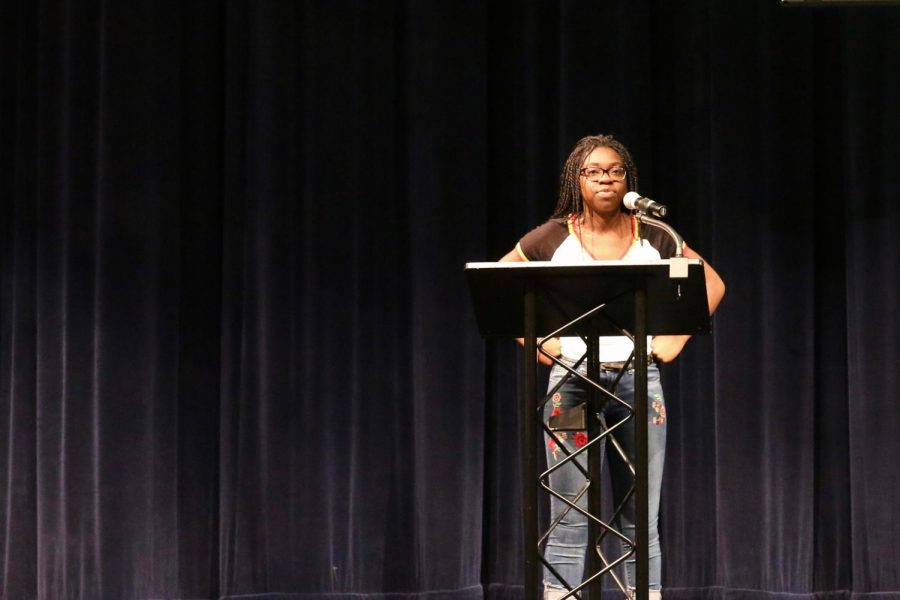 Newly-elected President Annette Njei presides over the Student Body.