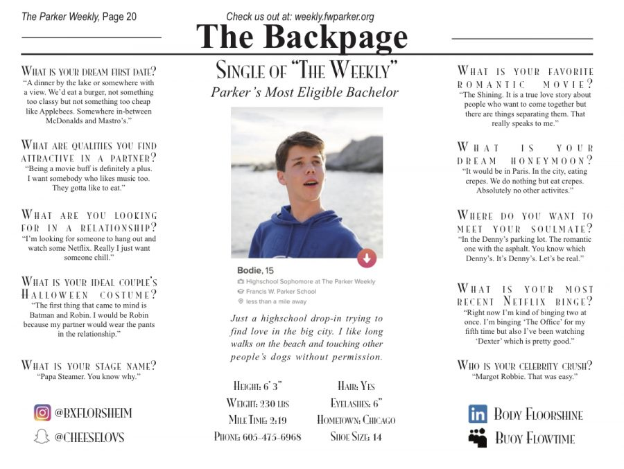Bodie Florsheim: Single of The Weekly – Issue 1