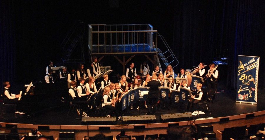 The Sct Maræ Skoles Big Band, from Aalborg, Denmark, performing at the Morning Ex on October 15th.