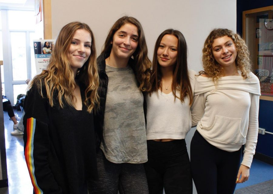 SPLIT heads (Left to right) Caroline Conforti, Estelle Heltzer, Elisabye Slaymaker, and Lila Schatz.
