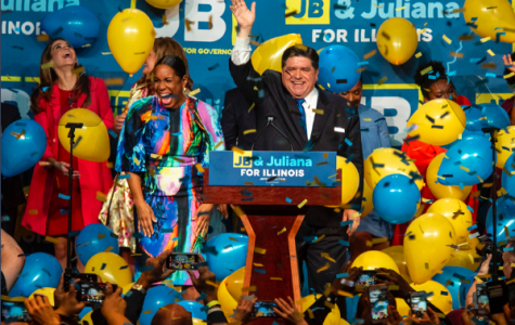 J.B. Pritzker Celebrates his win. Photo Courtesy of the Pritzker Campaign.