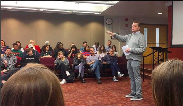 Father+Michael+Pfleger+Addresses+the+Junior+Class%0APhoto+by+Jack+Laser