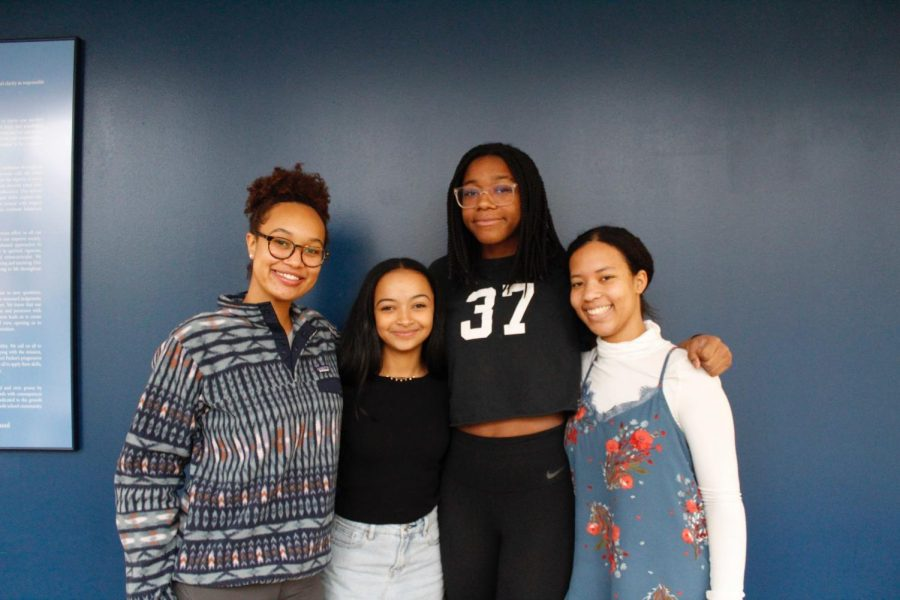 WOCA club heads Leila Griffin, Olivia Hanley, Asha Wright, and Aziza Mabrey-Wakefield.