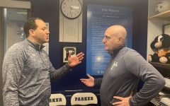 New Basketball Coach Paul Samano discusses the upcoming White Out game with Athletic Director Bobby Starks.