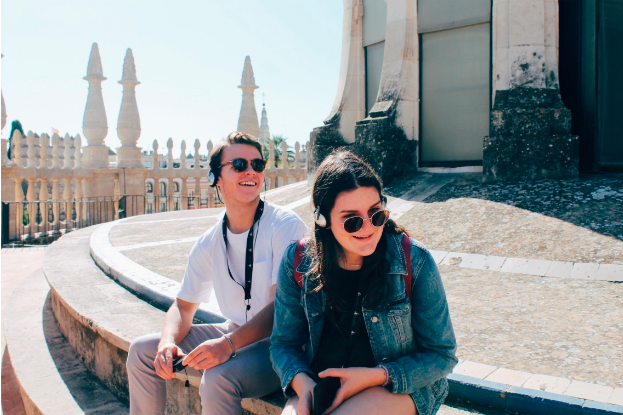 Junior Ellie Buono (right) during her year abroad in Spain.