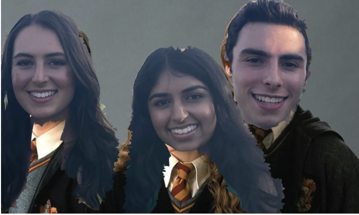 Three editors pose with their magic wands