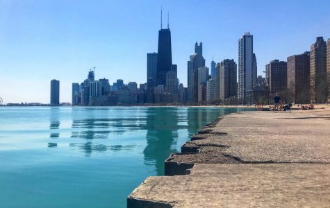 An image of the empty lakefront after Chicago Mayor Lori Lightfoot announced its temporary closure. Photo courtesy of  Chicago Visitors Guide