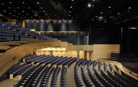 An image of the Parker auditorium, now empty due to the stay-at-home order. Photo courtesy of Project Management Advisors, Inc.