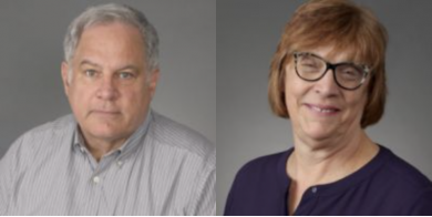 School pictures of Mark Aymar (left) and Anne Marie Fries (right).