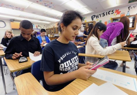 Students take an AP exam in Georgia last year, before the required virtual format. Photo courtesy of the Atlanta Journal-Constitution.