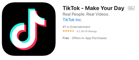 Screenshot of TikTok on Apple's App Store.