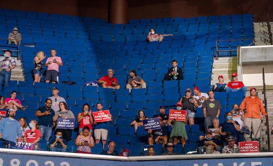 Empty seats at President Trump's rally on June 20 in Tulsa, Okla.