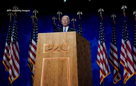 Joe Biden accepts the nomination for Democratic presidential candidate. Photo via Getty Images.