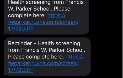 Screenshot of Ruvna notification messages.