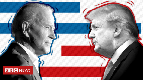 Trump V. Biden. Photo courtesy of BBC news.