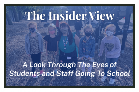 """The Insider View."" 1st grade teacher Elizabeth Joebgen and her students on the playground."