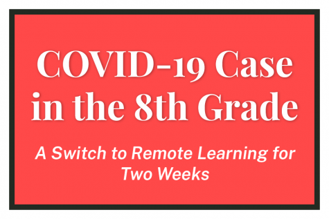 """COVID-19 Case in the 8th Grade. A switch to Remote Learning for Two Weeks."""