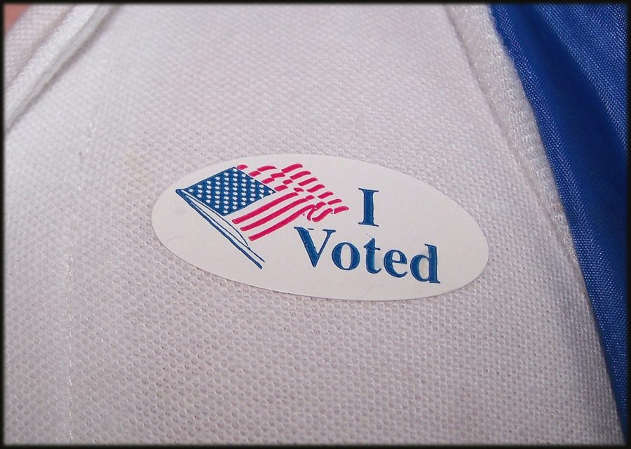 An 'I Voted' sticker for those who cast their ballot on Election Day. Photo courtesy of NSPA Flickr Archives