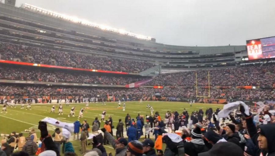 Soldier field full of fans at a Bears Game. Photo by Nick Skok.