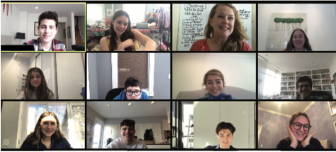 Student Government's Cabinet meeting over Zoom.