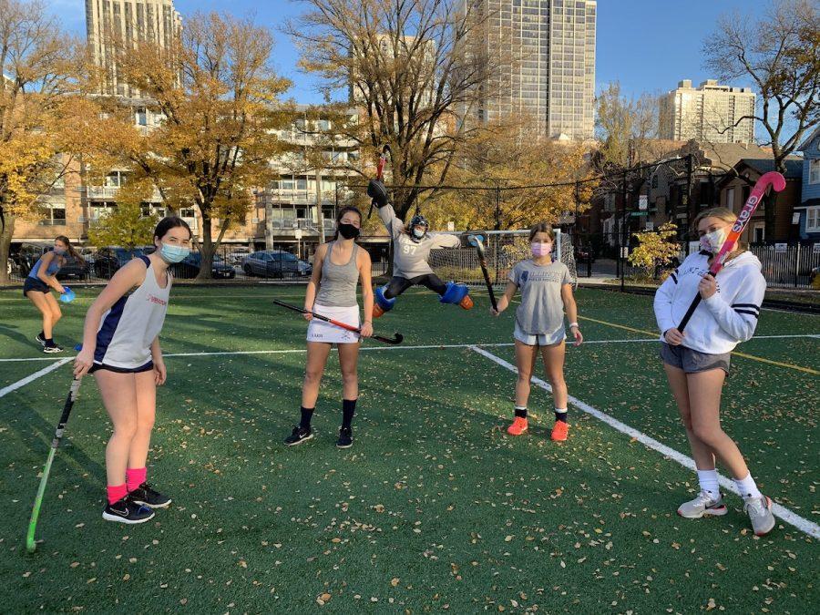 Field hockey team at practice. Photo courtesy of Emily Simon.