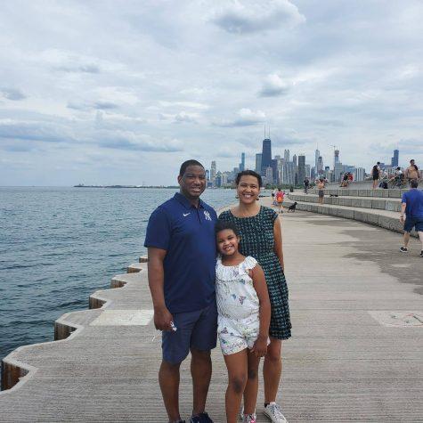 Photo of the Brandon Miklavcic Family. Photo courtesy of Mr. Brandon.