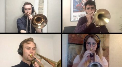 The Westerlies performed virtually in the fourth year of the Joan W. Harris Visiting Music Scholars in Residence program. Photo from Vimeo.