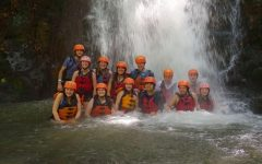 Harris and other Travel for Teens program members in Costa Rica. Photo courtesy of Skyelar Harris.